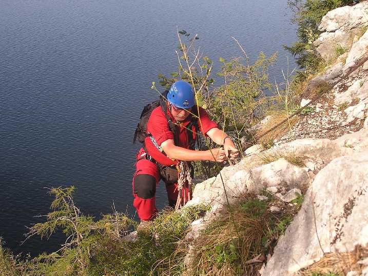 Klettersteig Traunstein : Traunstein 1691m über den naturfreunde steig klettersteig